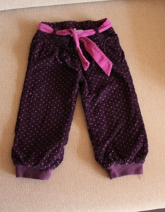 Вельветовые брюки с трикотажным подкладом