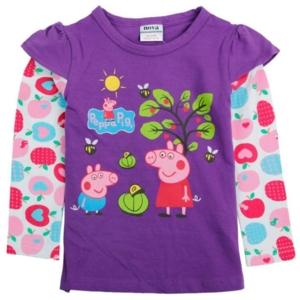 Джемпер Нова пеппа фиолетовый с яблоней