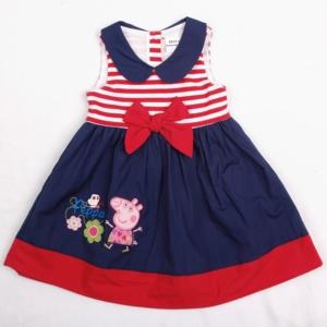 Платье Нова с пеппой бантом синий низ верх-красно-