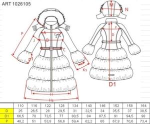 Пальто Nels 110 рост