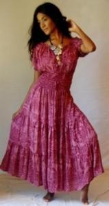 """Балийское платье """"Пыльная роза"""""""