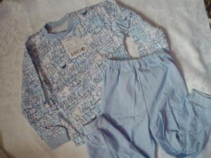 Пижама голубая р.98-104