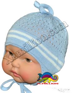 Шапочка для малышей ажурная