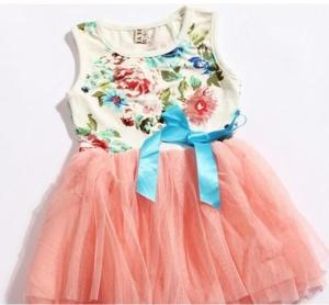 Платье персиковая сеточка