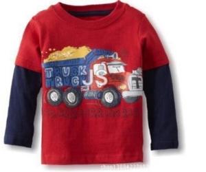 Джемпер красный с грузовиком