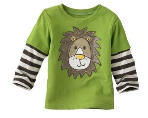Джемпер зеленый со львом