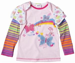 Джемпер розовый Нова с бабочками вышивка