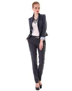 Костюм Miss Lo: жакет+брюки, цвет графит