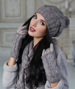 """Комплект """"Карелия"""" (шапка+шарф+перчатки)"""