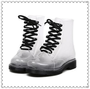Прозрачные резиновые ботинки р.39