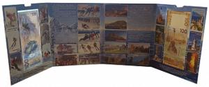 Альбом с банкнотами 100 рублей, посвященных ХХII