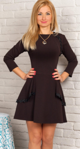 платье коричневое (р 46)