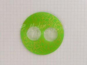 Пуговица Круглая матовая-Дизайн-9.1-золото