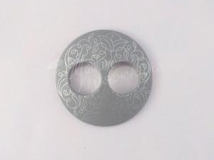 Пуговица Круглая матовая-Дизайн-8.2-серебро