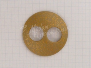 Пуговица Круглая матовая-Дизайн-4.4-золото