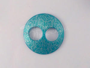 Пуговица Круглая матовая-Дизайн-10.7-серебро