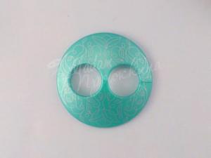 Пуговица Круглая матовая-Дизайн-10.8-серебро