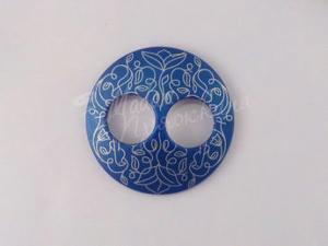 Пуговица Круглая матовая-Дизайн-10.5-серебро