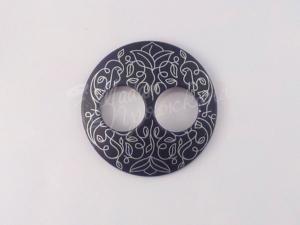 Пуговица Круглая матовая-Дизайн-6.2-серебро