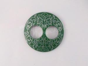 Пуговица Круглая матовая-Дизайн-4.8-серебро