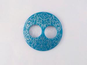 Пуговица Круглая матовая-Дизайн-5.3-серебро