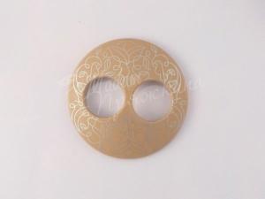 Пуговица Круглая матовая-Дизайн-8.5-серебро