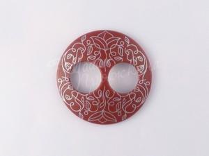 Пуговица Круглая матовая-Дизайн-1.2-серебро