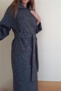 твидовое шерстяное пальто