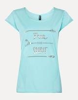 Футболка женская T-Shirt mit Ethno-Printhelltürki