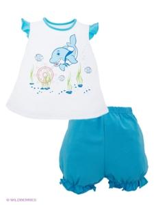 Комплект для девочки (футболка+шорты), Лео