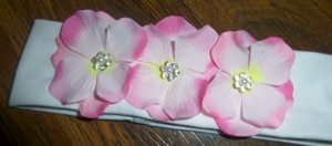 Повязка три цветка