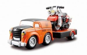 Грузовичок с мотоциклом Harley-Davidson