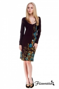 стильное платье Fleuretta ШОКОЛАД, 44