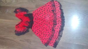 испанское платье для САЛЬСЫ, 4-6 лет