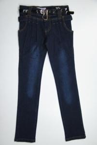 джинсы узкие с галифе (сзади цепочки), 140-146