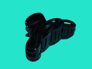 Заколка пластиковая КРАБ - 9 см черный Арт.97-1