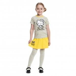 Желтый комплект: футболка, юбка для девочки 98 раз