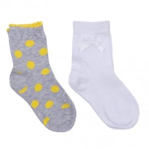 Серые носки, 2 пары в комплекте для девочки 14 раз