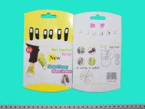 Шнурки силиконовые с застежкой -6 шт (черные)№215