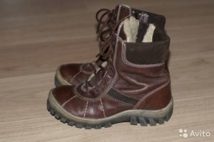 Ботинки натуральная кожа мех