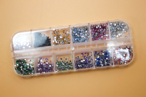 Стразы для ногтей 12 цветов набор