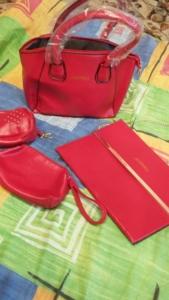 Набор сумок красный новый 4 предмета