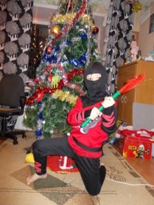Новогодний костюм Черный ниндзя!