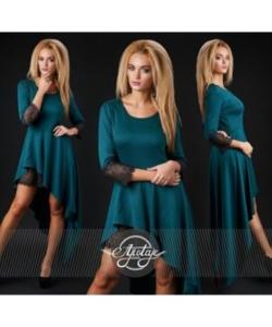 Платье т.зеленое