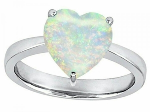 Кольцо Jewelry серебренное с опалом