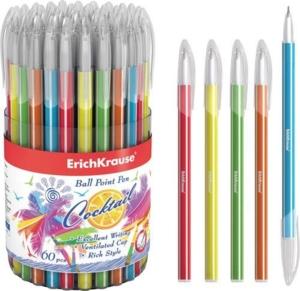 Ручка шариковая 0.6мм 33518 синяя Cocktail Erich K