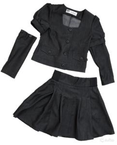 Новый школьный костюм с этикетками 134 темносерый