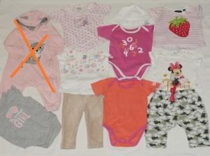 Пакет одежды для девочки р.68 (10 позиций)