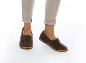 Тапочки-туфли 100% верблюжья шерсть