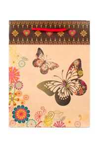 "Пакет подарочный ""Бабочки"", 14х11х6 см"